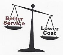 Better services and lower costs